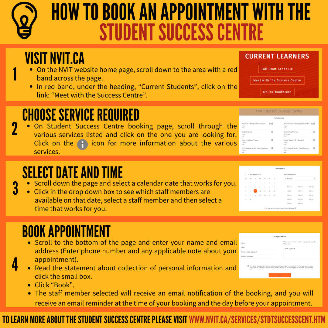 How to book an appointment with the student success centre